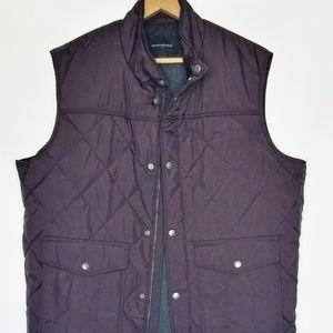 Banana Republic nylon quilted vest men's L